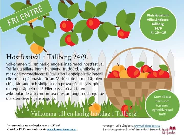 Höstfestival i Tällberg 24 sept