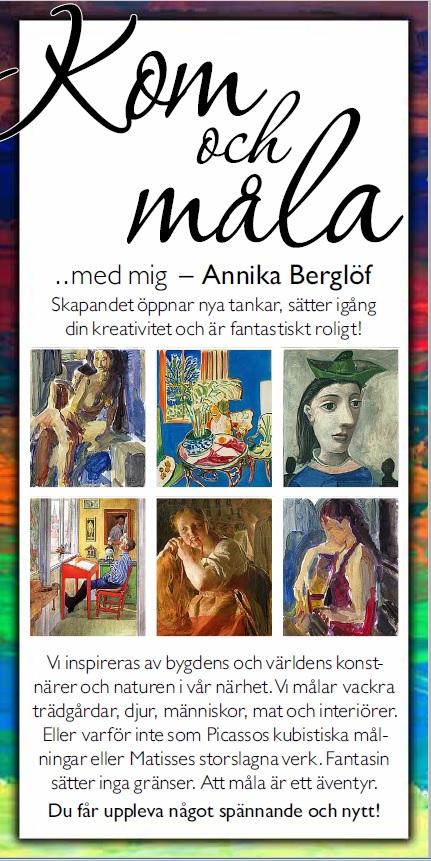 Kom och måla med Annika Berglöf