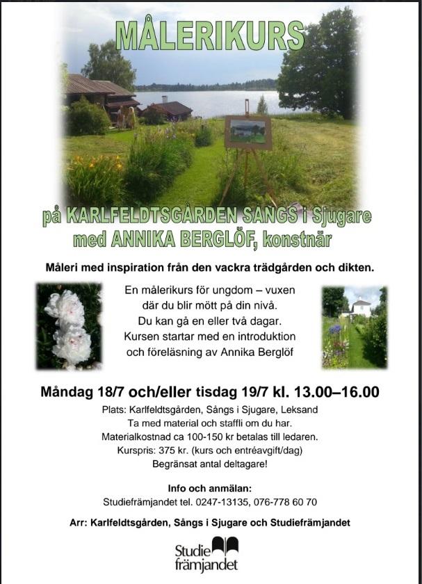 målerikurs karlfeldtsgården 2016 Annika Berglöf