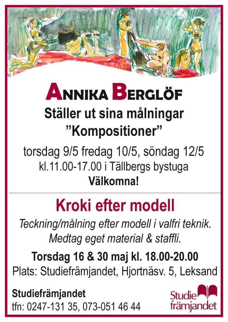 utställning Annika och Kroki