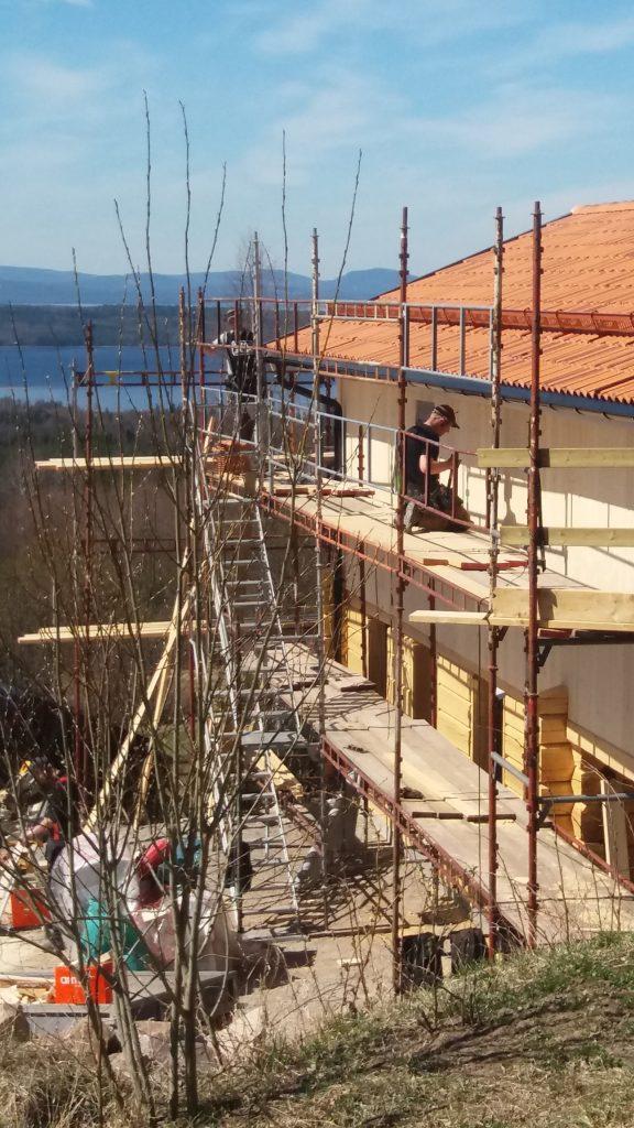 Byggnationen för Atelje' och bostad maj 2017