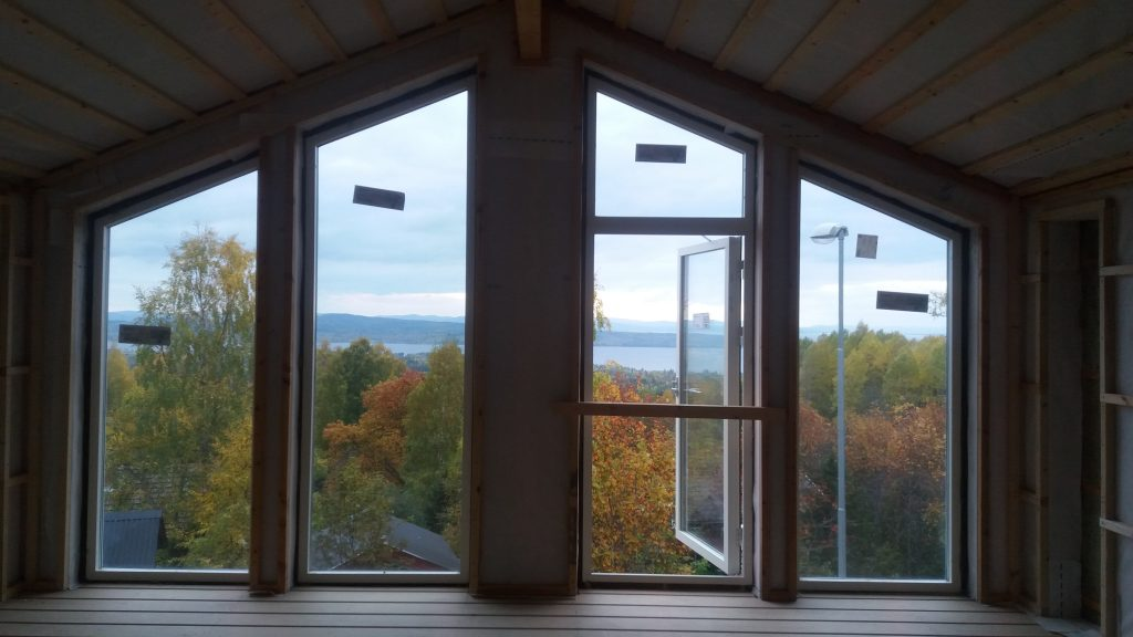 Utsikten från atelje' och bostad, oktober 2017