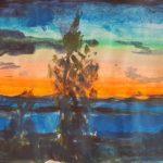 Vy över Siljan i solnedgången