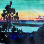 Vy över Siljan – solnedgång