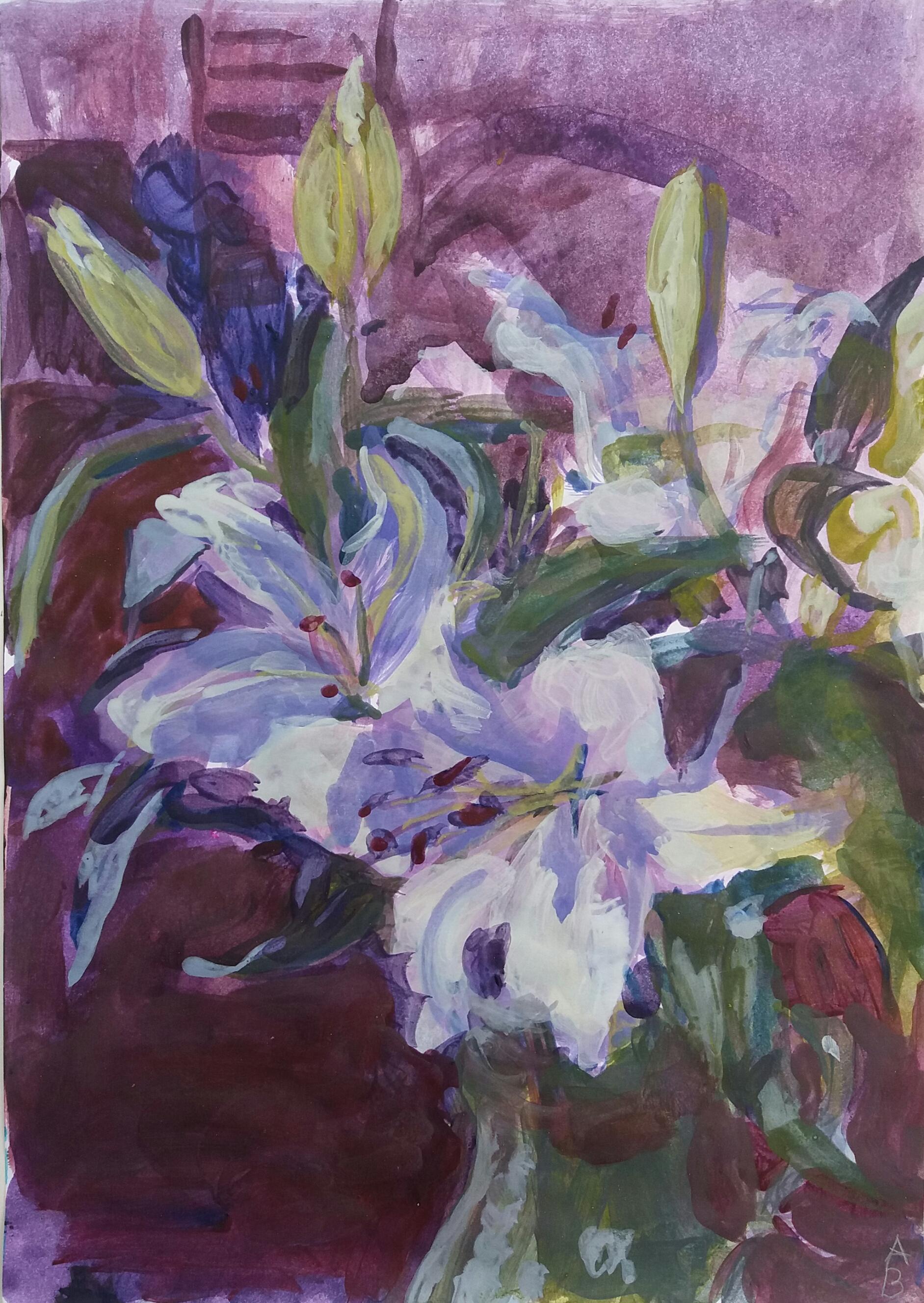 vita liljor i vas