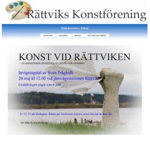 Konst vid Rättviken 20 maj 2017