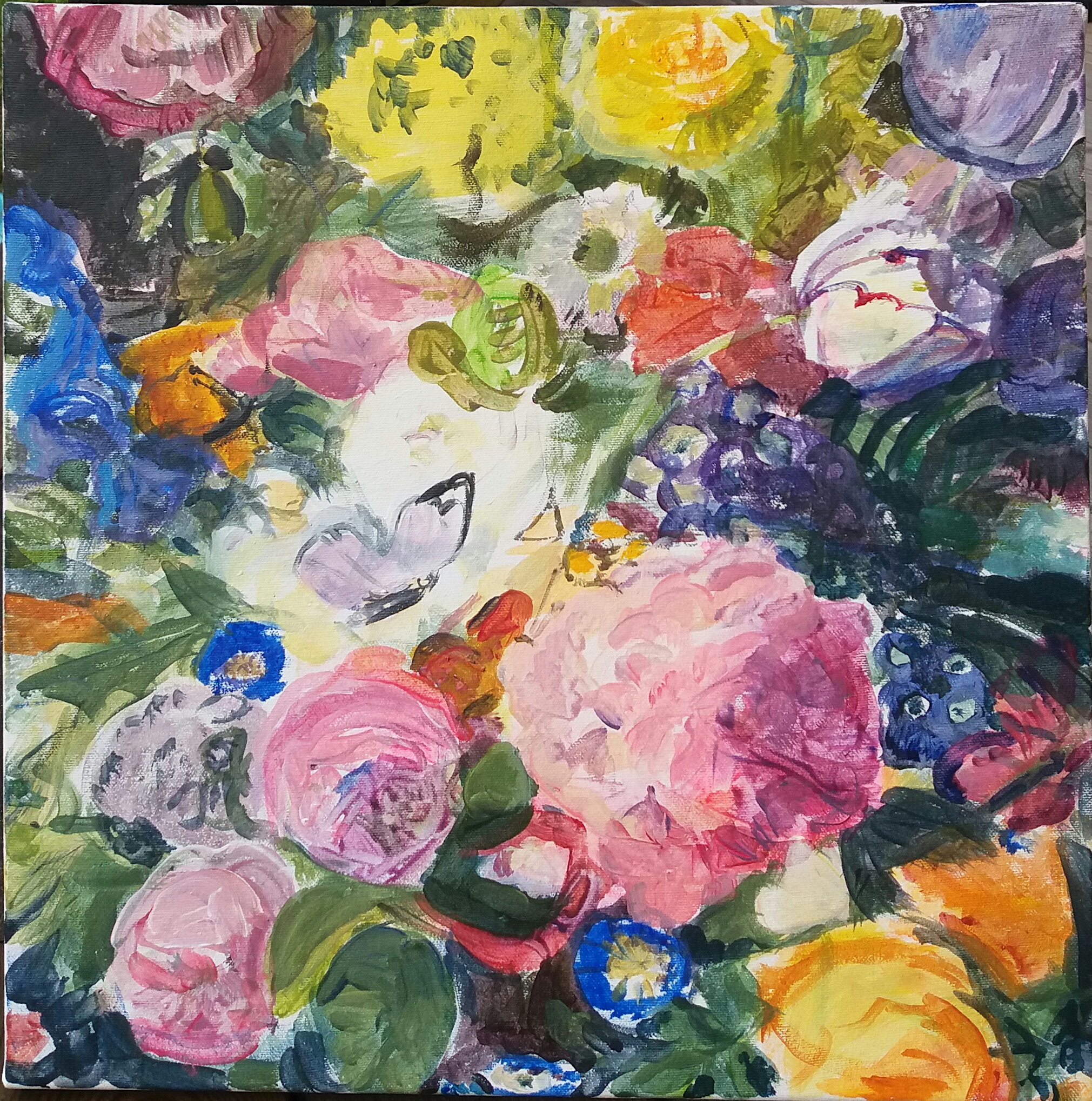 blommor och fjärilar