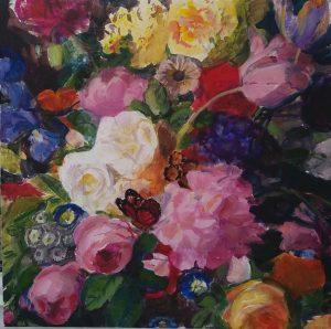 Blommor och fjärilsmålning - Annika Berglöf