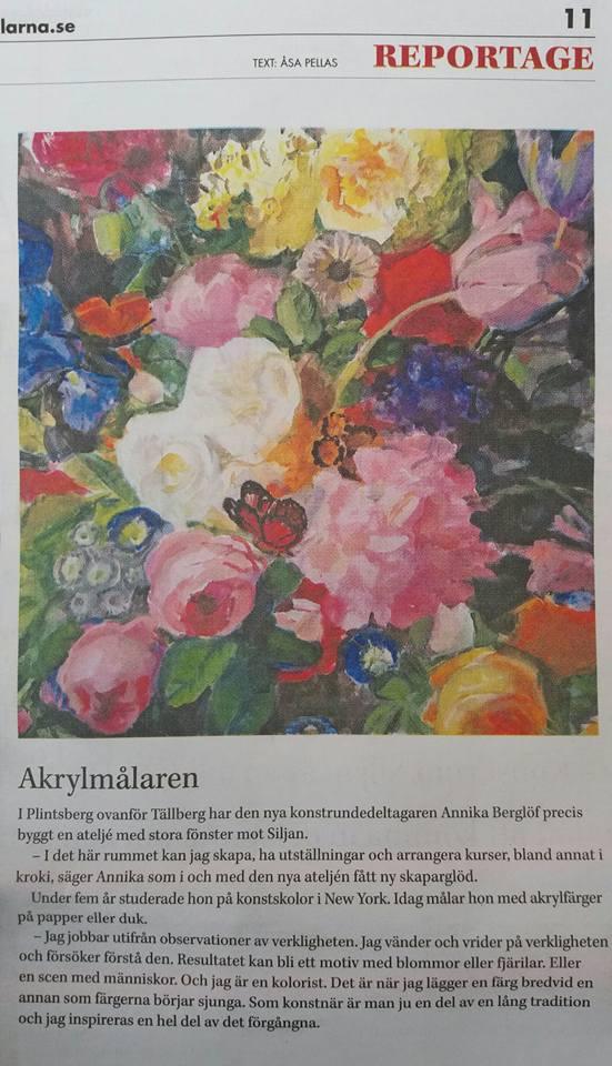 Annika Berglöf- Siljan just nu repotage 10-13 juni 2018