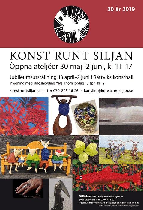 Konst runt Siljan 2019 affisch