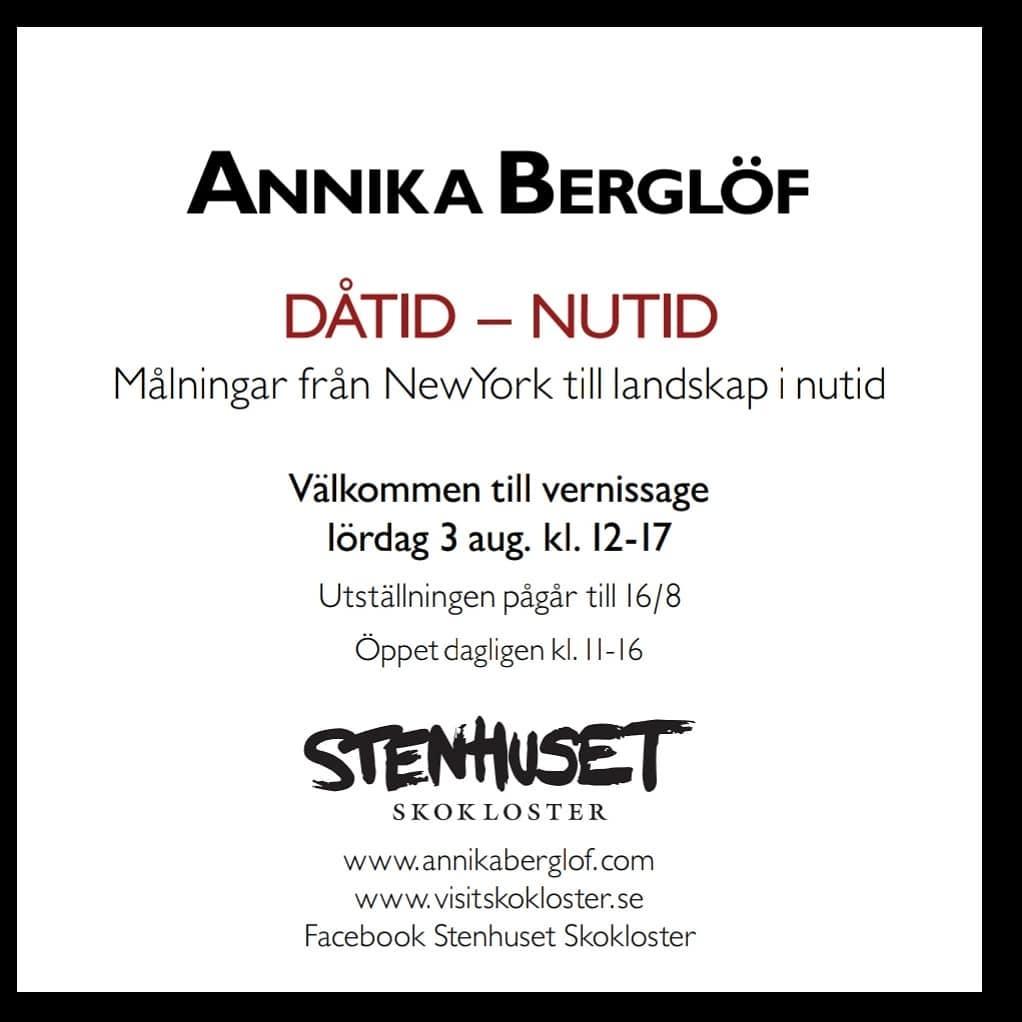 Vernissage 3 aug stenhuset sj´koklosterslott Annika Berglöf