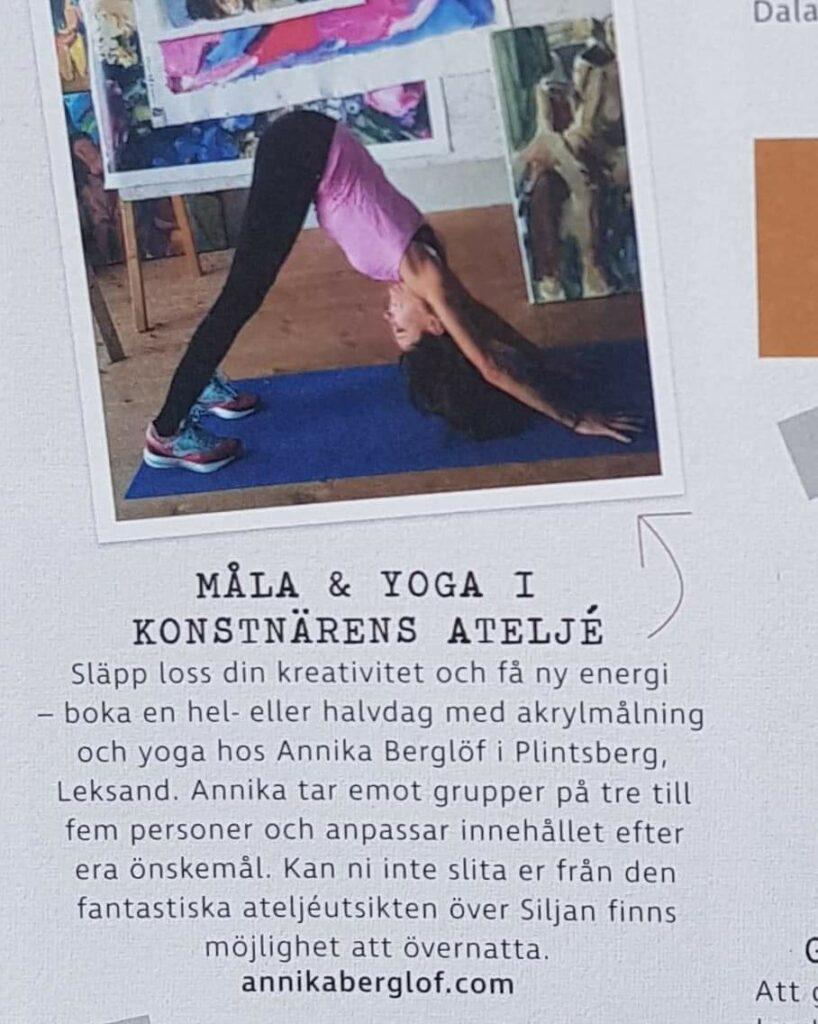 Måla och yoga hos Annika